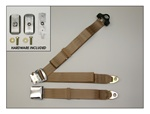 Chrome Lift Latch 3pt. Non-Retractable Seat Belt